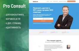 Pro Consult - HTML шаблон по консталтингу, тренингам и пр.