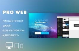 Pro Web - html шаблон для веб-студии